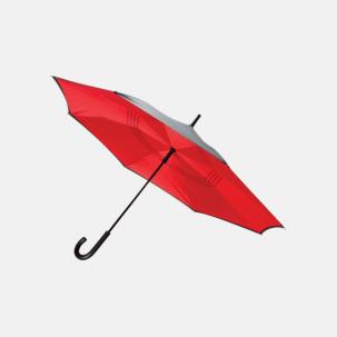 In och ut-vändbara paraplyer med reklamtryck