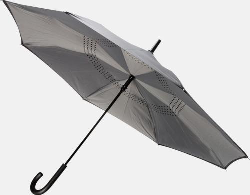 Grå In och ut-vändbara paraplyer med reklamtryck