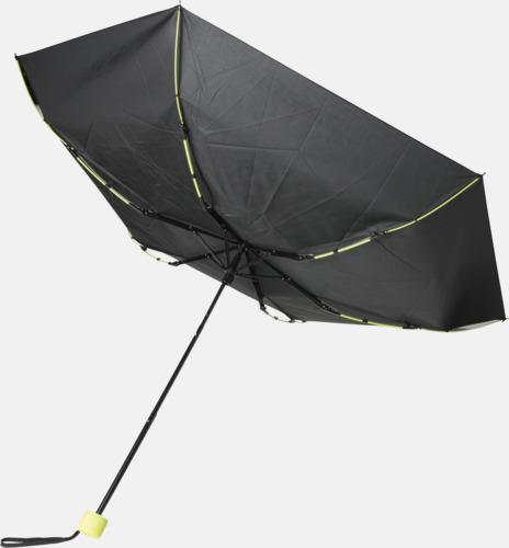 """Stormsäkert 21"""" stormparaplyer med färgdetaljer - med reklamtryck"""