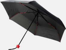 """21"""" stormparaplyer med färgdetaljer - med reklamtryck"""