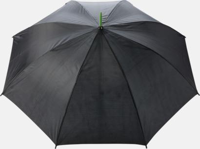 """Limegrön 23"""" stormparaplyer med färgdetaljer - med reklamtryck"""