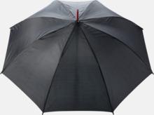 """23"""" stormparaplyer med färgdetaljer - med reklamtryck"""