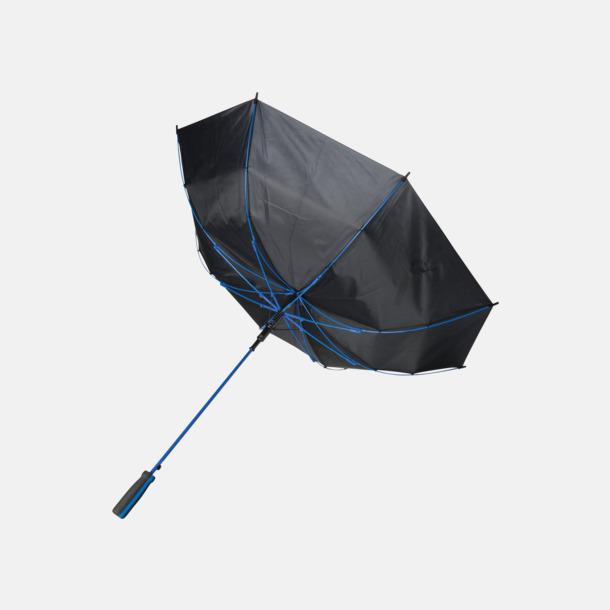 """Stormsäkert 23"""" stormparaplyer med färgdetaljer - med reklamtryck"""
