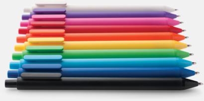 Pennor i många färger med reklamtryck