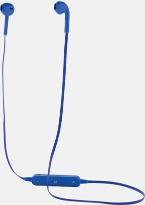 Blå Trådlösa in-ear hörlurar med högtalare - med reklamtryck