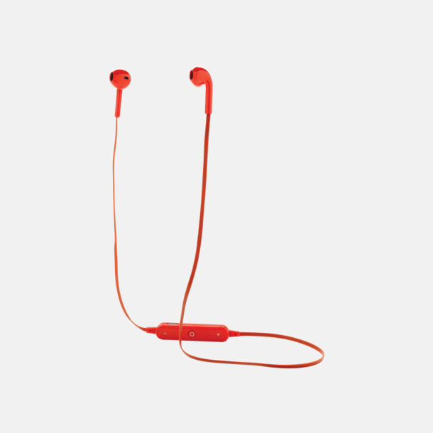 Röd Trådlösa in-ear hörlurar med högtalare - med reklamtryck