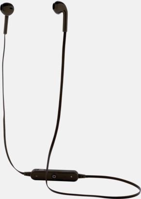 Svart Trådlösa in-ear hörlurar med högtalare - med reklamtryck