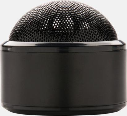 Svart Kulpolformade BT-högtalare med reklamtryck