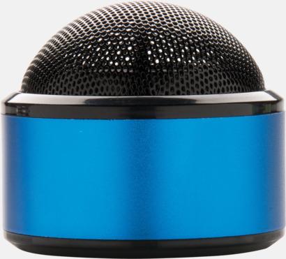 Blå Kulpolformade BT-högtalare med reklamtryck
