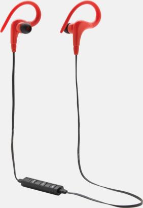 Röd Trådlösa sporthörlurar med reklamtryck