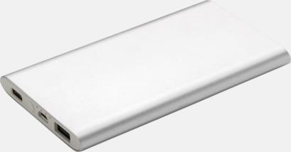 Silver Typ C-powerbanker med reklamtryck