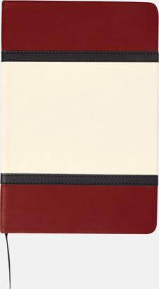 Röd Anteckningsböcker i A5 med konstläder omslag med reklamtryck