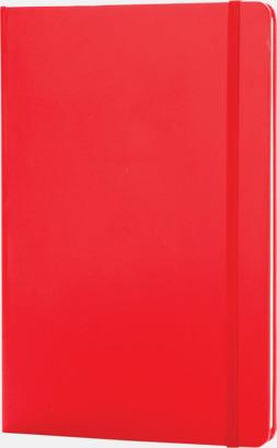 Röd Anteckningsböcker i A5 med reklamtryck