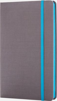 Ljusblå Färgade tyg anteckningsböcker med reklamtryck