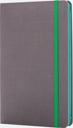 Grön Färgade tyg anteckningsböcker med reklamtryck