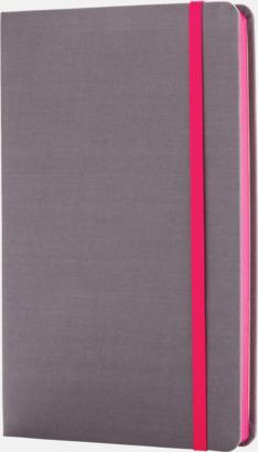 Rosa Färgade tyg anteckningsböcker med reklamtryck