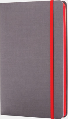Röd Färgade tyg anteckningsböcker med reklamtryck