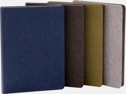 Tygklädda anteckningsböcker med reklamtryck