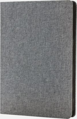 Grå Tygklädda anteckningsböcker med reklamtryck