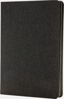 Svart Tygklädda anteckningsböcker med reklamtryck