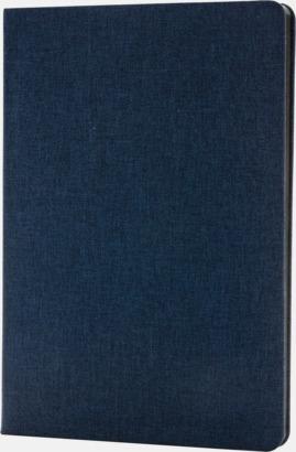 Blå Tygklädda anteckningsböcker med reklamtryck