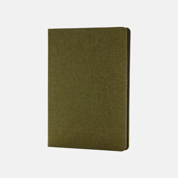 Grön Tygklädda anteckningsböcker med reklamtryck