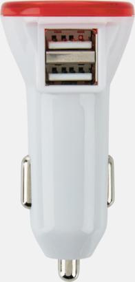 Dubbel billaddare med LED-ljus - med reklamtryck