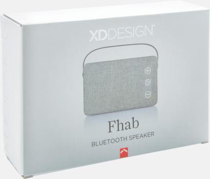 Presentförpackning Tygklädda, trådlösa högtalare med reklamtryck