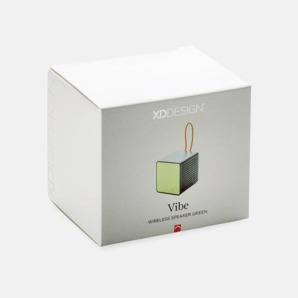 Presentförpackning (grön) Kubformade högtalare med reklamtryck