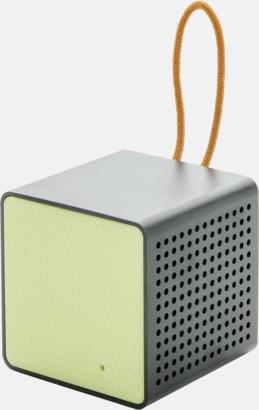 Grön Kubformade högtalare med reklamtryck