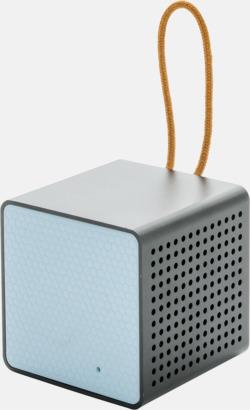 Blå Kubformade högtalare med reklamtryck