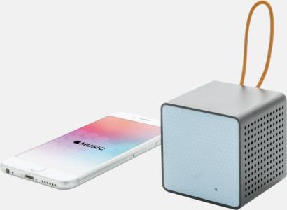 Kubformade högtalare med reklamtryck