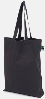 Långa handtag Svart Färgglada kassar som är ekologiska och Fairtrade-certifierade - med reklamtryck