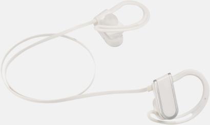 Vit Kraftfulla öronsnäckor med reklamtryck