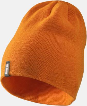 Orange Stilrena beanie-mössor med reklamlogo