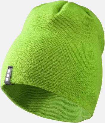 Grön Stilrena beanie-mössor med reklamlogo