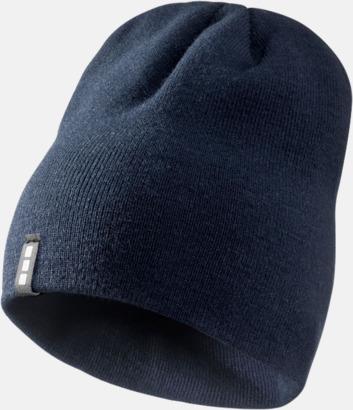 Marinblå Stilrena beanie-mössor med reklamlogo