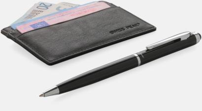 RFID-antiskimming korthållare i set med en penna från Swiss Peak med reklamtryck
