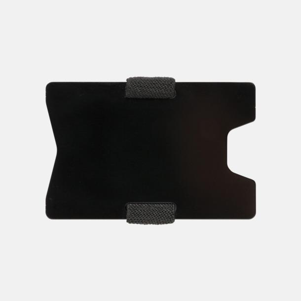 Baksida Korthållare i aluminium med RFID-skydd med reklamtryck