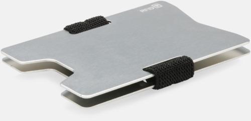 Silver Korthållare i aluminium med RFID-skydd med reklamtryck