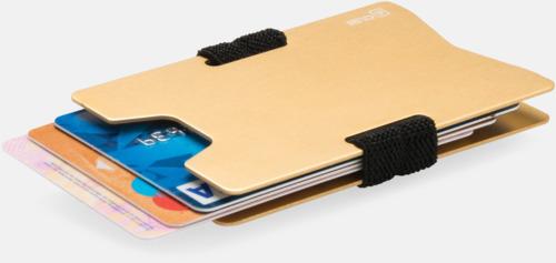 Korthållare i aluminium med RFID-skydd med reklamtryck