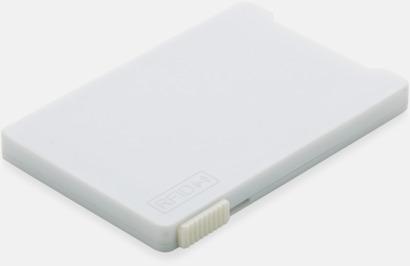 Vit Korthållare för 3-4 kort med RFID-skydd med reklamtryck