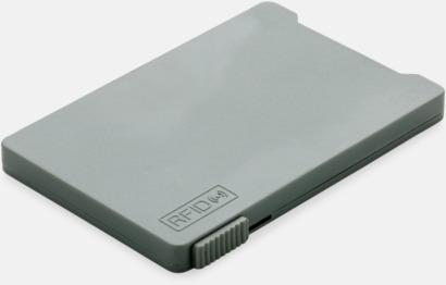 Grå Korthållare för 3-4 kort med RFID-skydd med reklamtryck