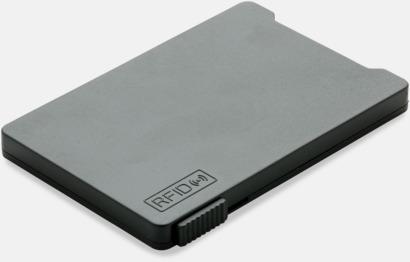 Svart Korthållare för 3-4 kort med RFID-skydd med reklamtryck