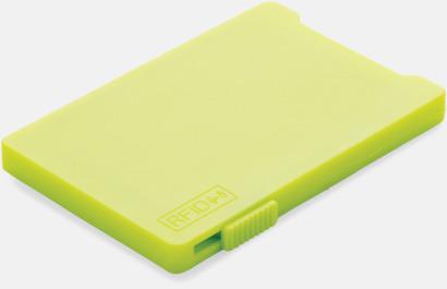 Limegrön Korthållare för 3-4 kort med RFID-skydd med reklamtryck