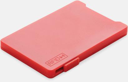 Röd Korthållare för 3-4 kort med RFID-skydd med reklamtryck