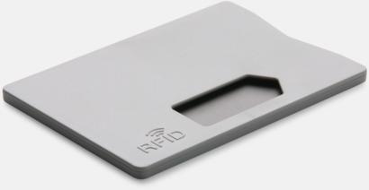 Grå Korthållare i plast med RFID-skydd med reklamtryck