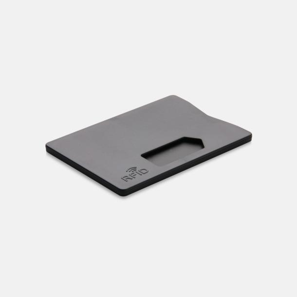 Svart Korthållare i plast med RFID-skydd med reklamtryck
