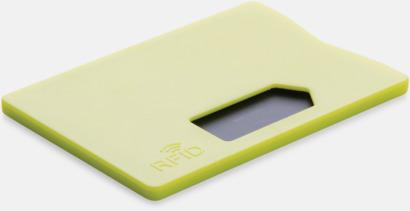 Limegrön Korthållare i plast med RFID-skydd med reklamtryck