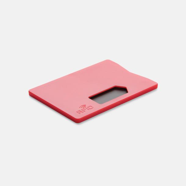 Röd Korthållare i plast med RFID-skydd med reklamtryck